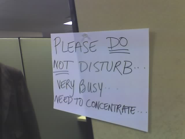 Do Not Disturb photo (C) 2006 by Jon Bell