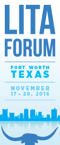 2016 LITA Forum badge