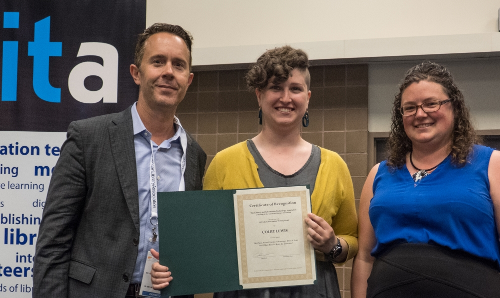 2018 Ex Libris Student Writing Award presentation