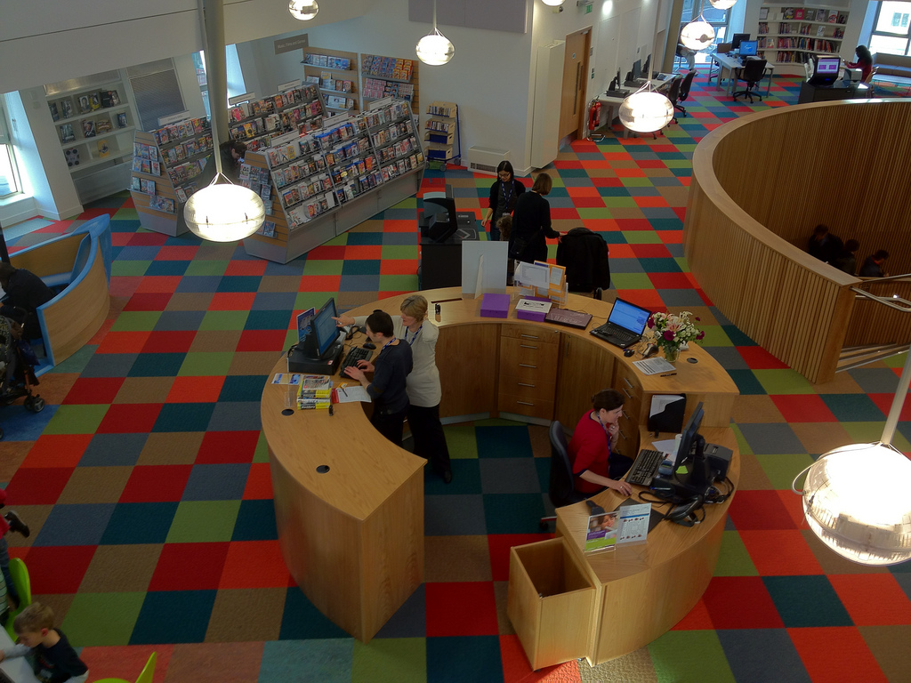 Image of library service point