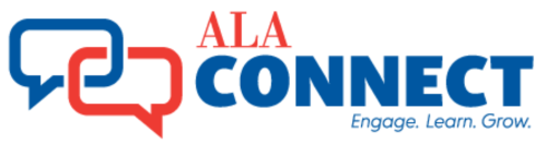 ALA Connect logo - Engage, Learn, Grow
