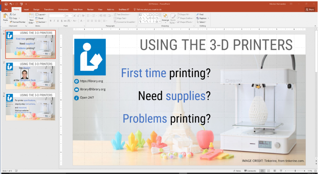Powerpoint presentation screenshot