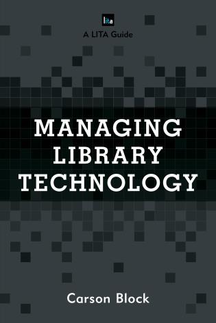 Managing Library Technology book cover