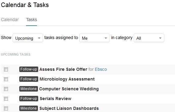 calendar and tasks