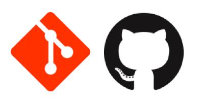 git and github combined logos
