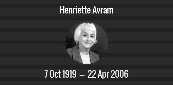 Henriette Avram picture