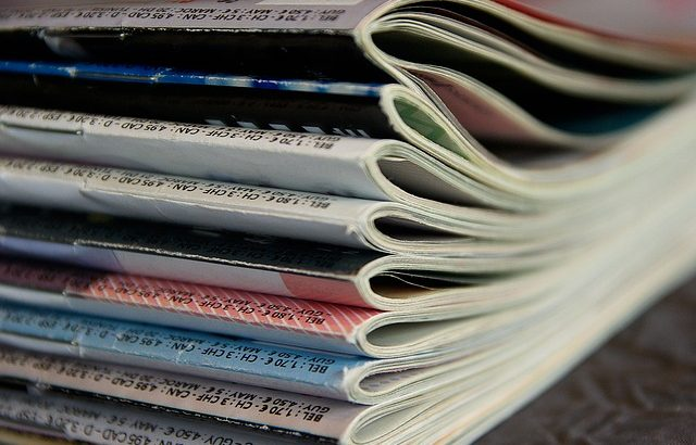 Stack of magazines picture