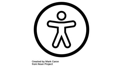 web accessibility by Mark Caron from the Noun Project